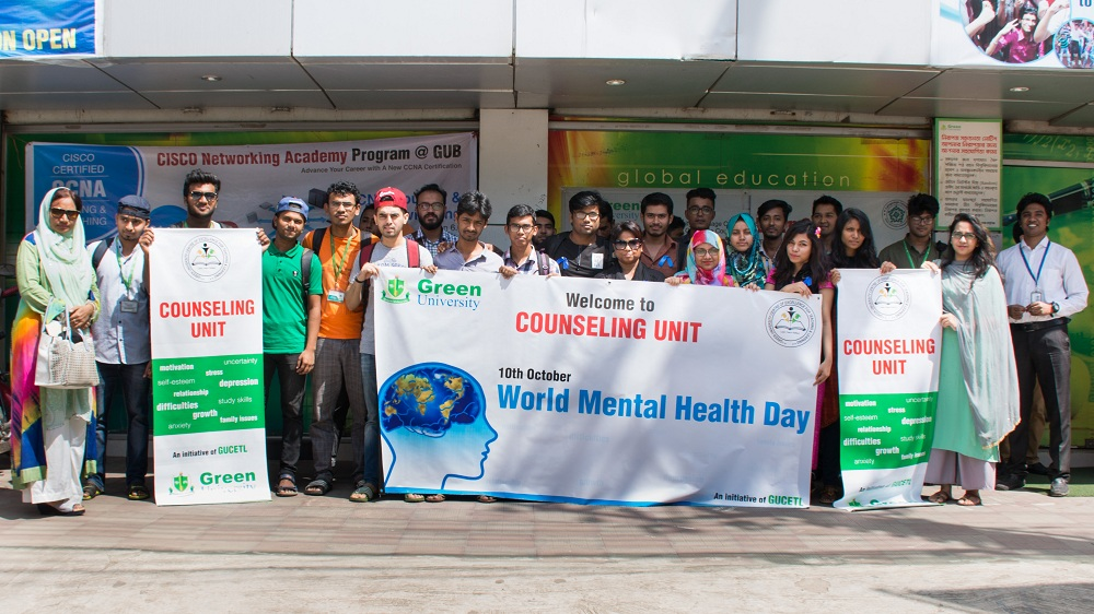 World Mental Health Day Celebration Green University Of Bangladesh